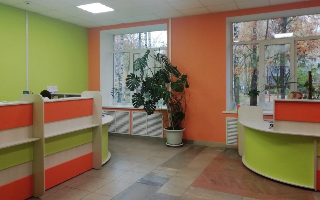 В ГБУЗ Республики Мордовия «Детская поликлиника № 2» реализуются организационно-планировочные решения внутренних пространств, обеспечивающие комфортность пребывания детей.